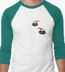 Christmas UFO's Men's Baseball ¾ T-Shirt