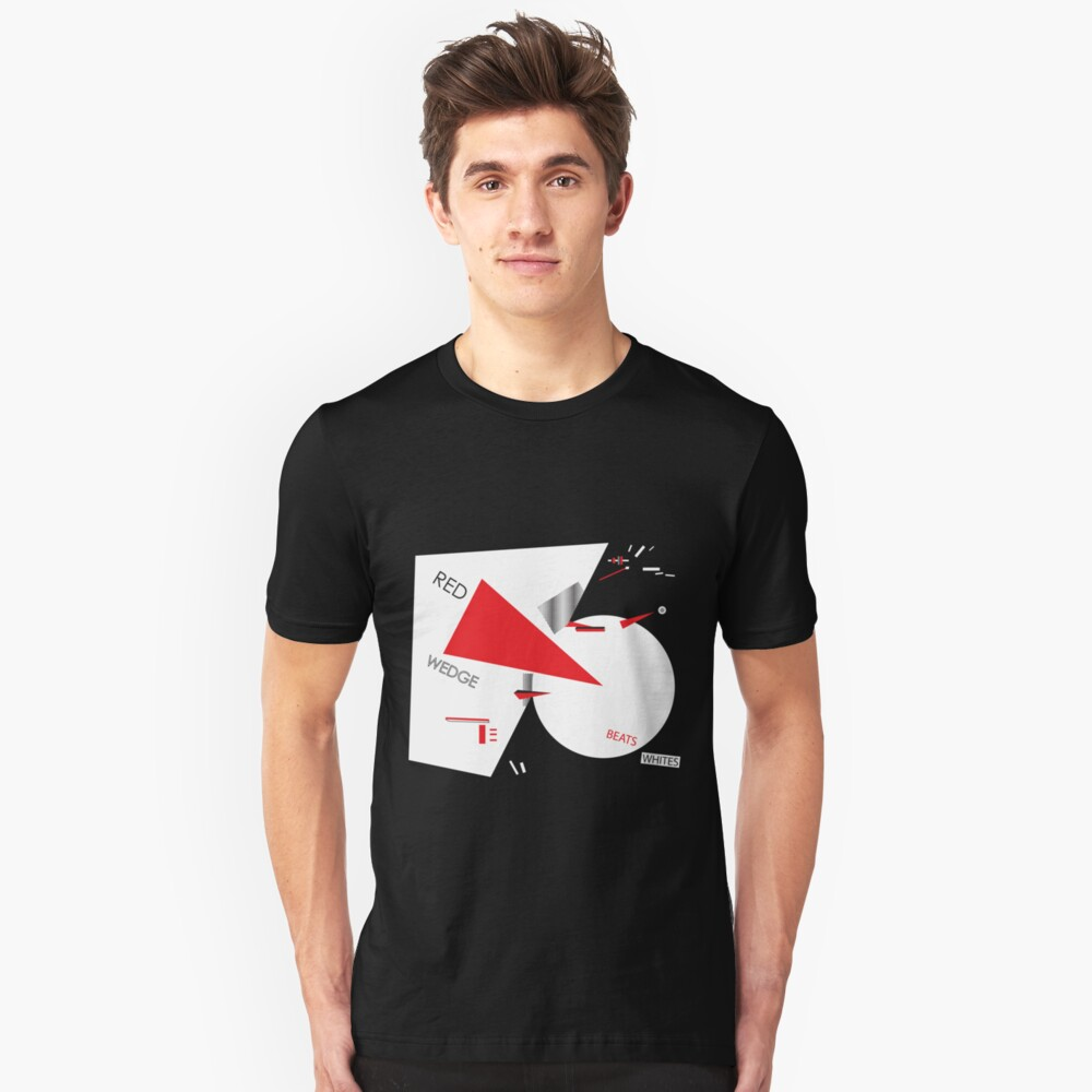 Beat the Whites with the Red Wedge Unisex T-Shirt Front