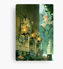 Ancient Fountains Canvas Print