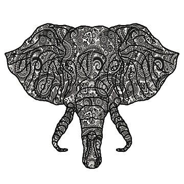 Paisley Elephant by tjstreasury
