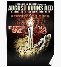 august burns red protest the hero tour 2017 Poster