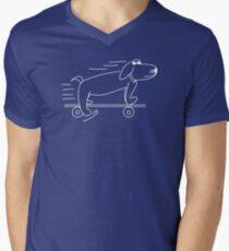 Henry Hound the cool skateboarding dog Mens V-Neck T-Shirt