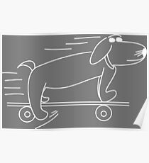 Henry Hound the cool skateboarding dog Poster
