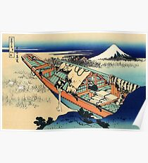 View of Mount Fuji in Hitachi Provence  Poster
