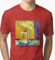 Daffodil with Vase Tri-blend T-Shirt