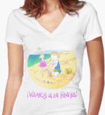 LET´S GO TO THE BEACH, KIDS! · ¡VAMOS A LA PLAYA, NIÑOS!  Camiseta entallada de cuello en V
