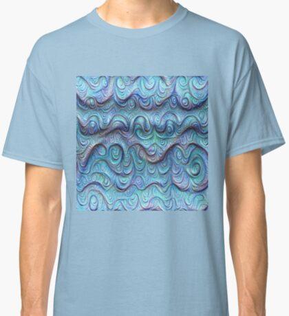 Frozen sea liquid lines and waves #DeepDream Classic T-Shirt