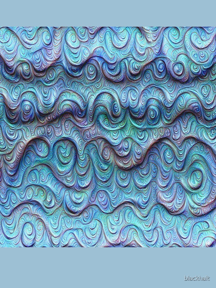 Frozen sea liquid lines and waves #DeepDream by blackhalt