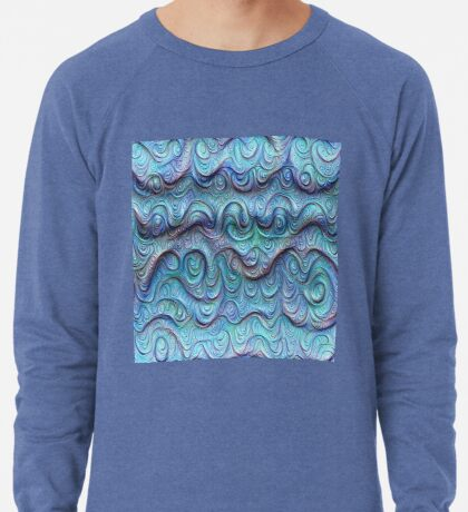 Frozen sea liquid lines and waves #DeepDream Lightweight Sweatshirt