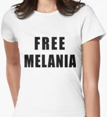 FREE MELANIA Women's Fitted T-Shirt