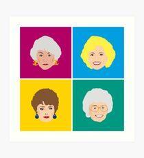 Der vier goldene Mädchen-Kunstdruck Kunstdruck