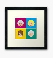 The Four Golden Girls Art Print  Framed Print
