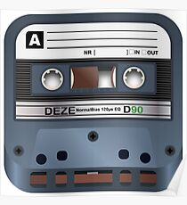 3D Cassette Tape Icon Poster