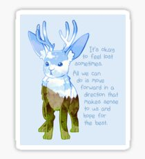 """It's Okay to Feel Lost"" Jackalope Sticker"