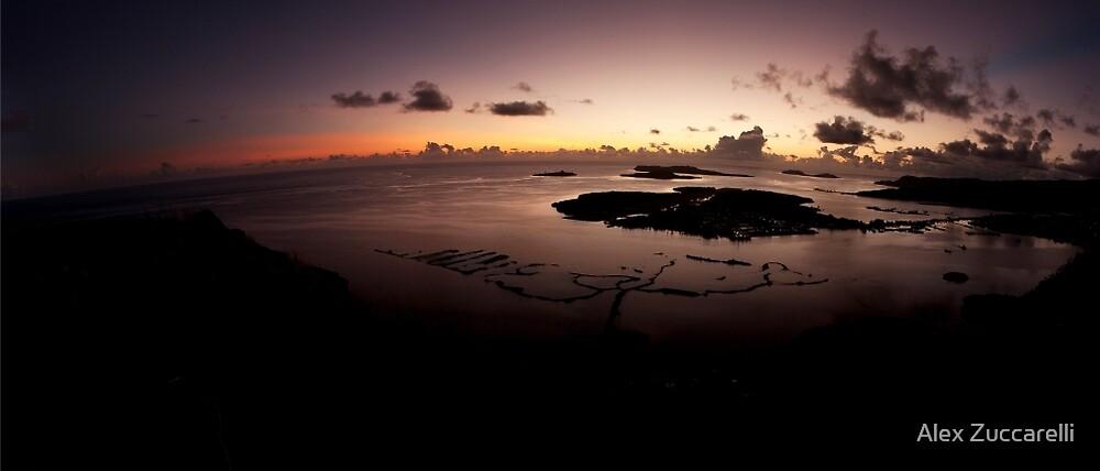 Lagoon Sunrise - Pohnpei, Micronesia by Alex Zuccarelli