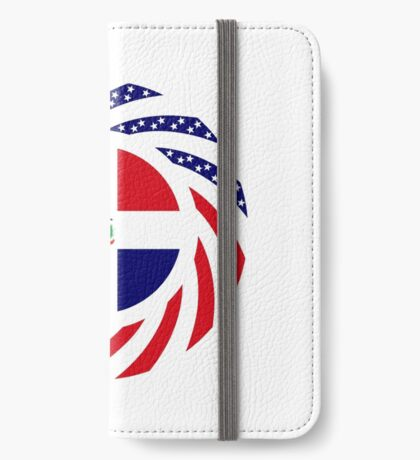 Dominican American Multinational Patriot Flag Series iPhone Wallet