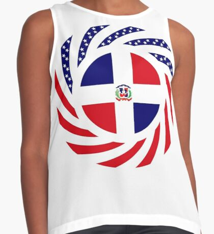 Dominican American Multinational Patriot Flag Series Sleeveless Top