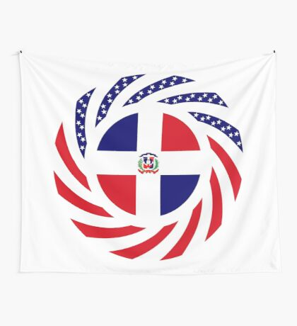 Dominican American Multinational Patriot Flag Series Wall Tapestry
