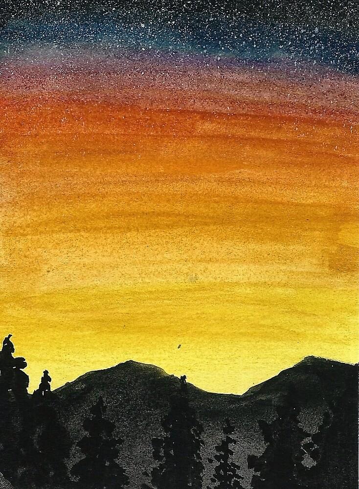 Golden Mountain Sunset by laurensnyder