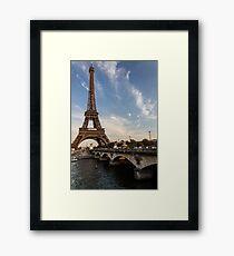 Tour Eiffel et Pont d'Iéna Framed Print