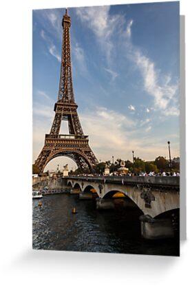 Tour Eiffel et Pont d'Iéna by Mathieu Longvert