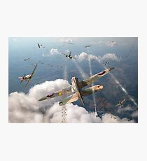 Headlong attack (Hurricanes over Dorset) Photographic Print