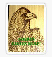 Golden Eagles Rule! Sticker