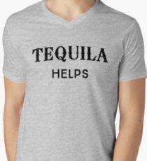 Tequila Helps Men's V-Neck T-Shirt