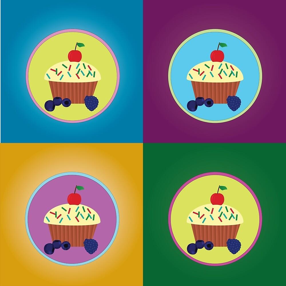 Pop art muffin by Oana Grigore