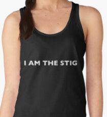 I AM THE STIG - English White Writing Women's Tank Top