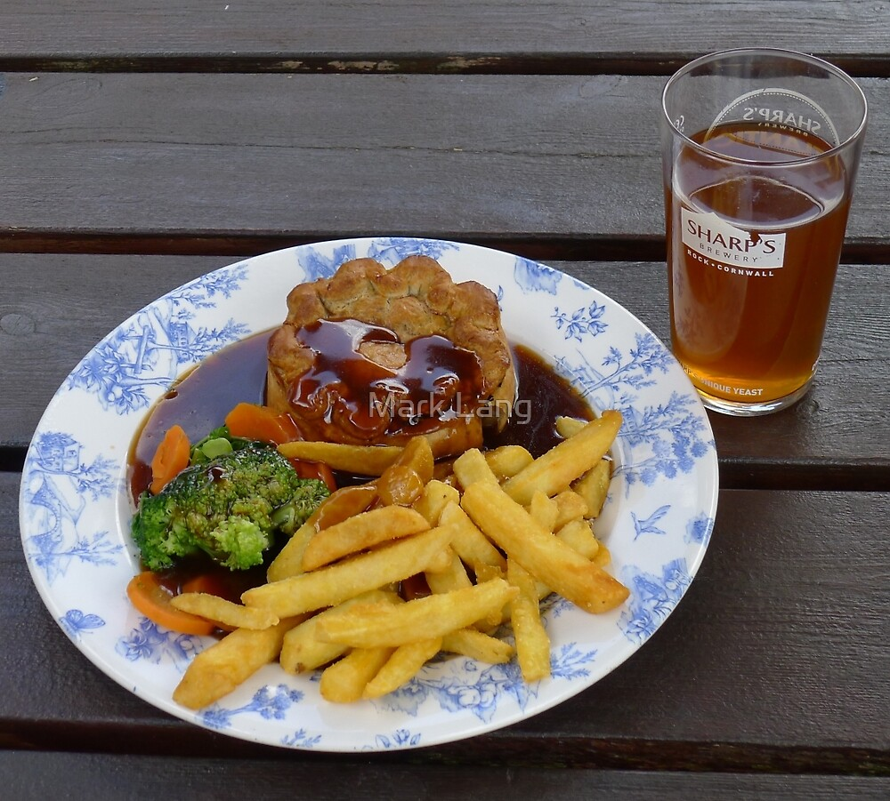Pub Grub - Pie and chips by Mark Lang