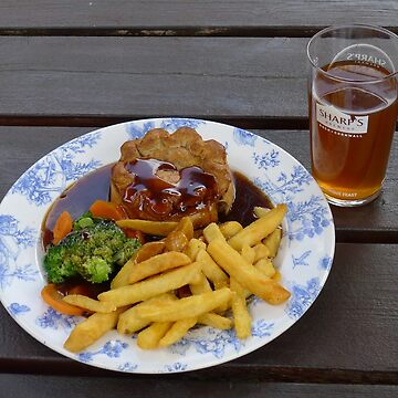 Pub Grub - Pie and chips by Langie
