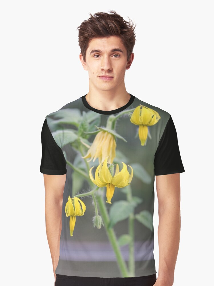 Yellow flowers of tomatoes. Graphic T-Shirt Front