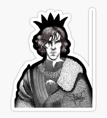 The Hollow Crown - Shakespeare's Richard III (b&w) Sticker