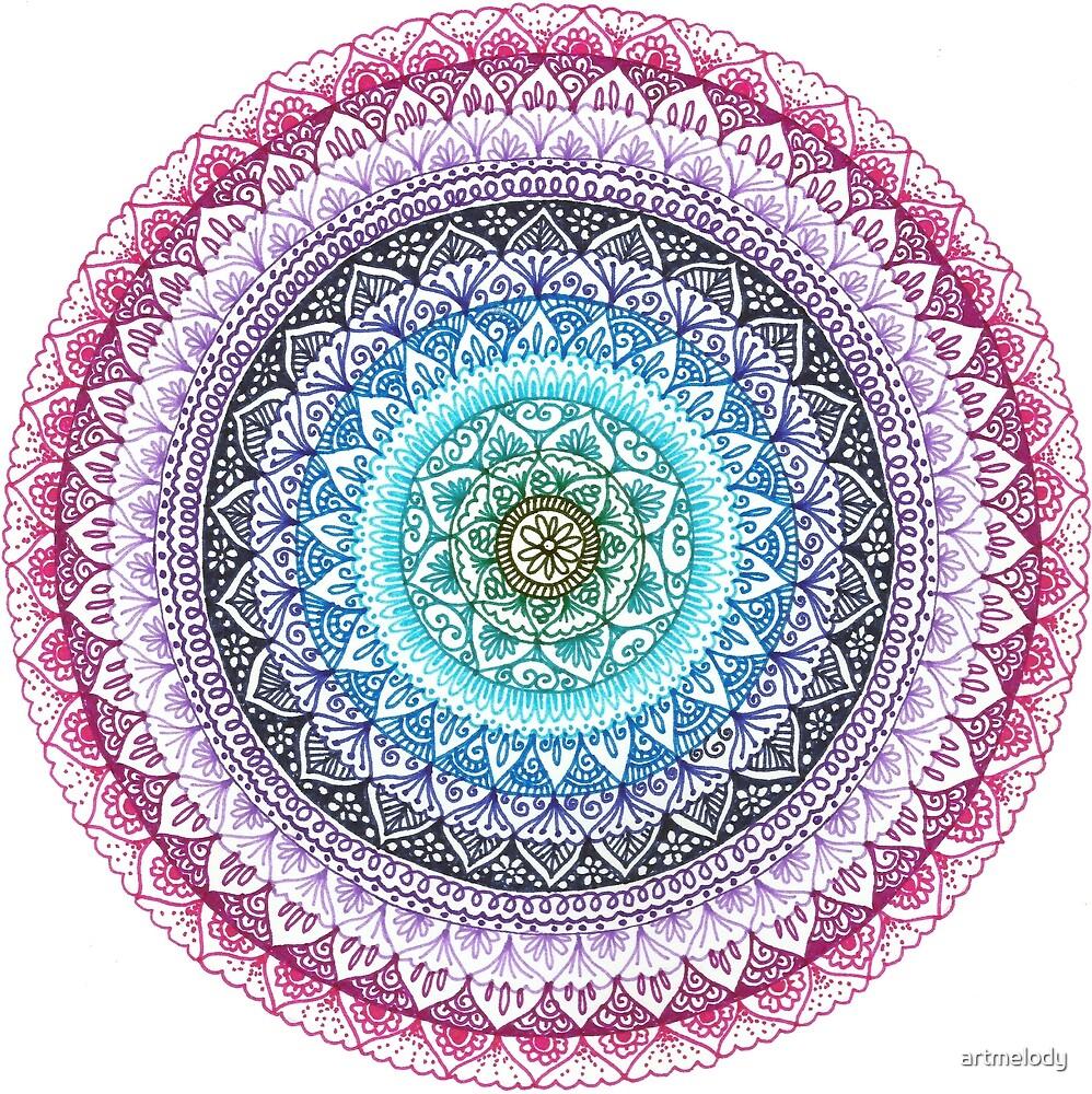 Red Moon Mandala by artmelody