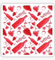 Wine pattern Sticker