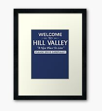 Welcome To Hill Valley (White) Framed Print