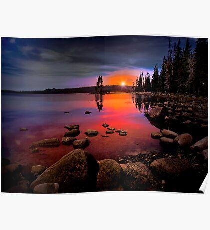 Waldo Lake ~ Sunset ~ Poster