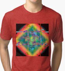 Colorful Dragon Swirls and Twirls Tri-blend T-Shirt