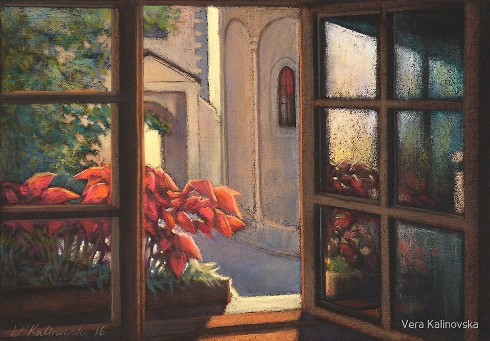Window with flowers by Vira Kalinovska