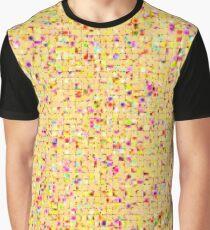 Antique Texture Lemon Yellow Graphic T-Shirt