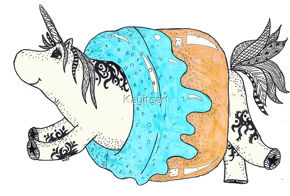 Fatty Unicorn by Kayitsart