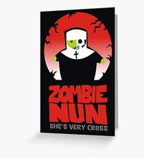 zombie nun Greeting Card