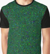 Antique Texture Emerald Green Graphic T-Shirt