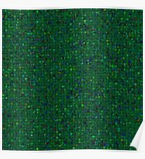 Antique Texture Emerald Green Poster