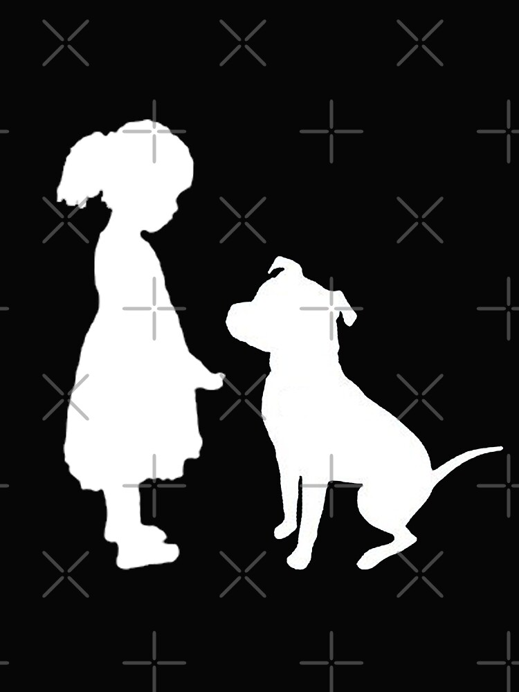 Girl and her dog by American  Artist
