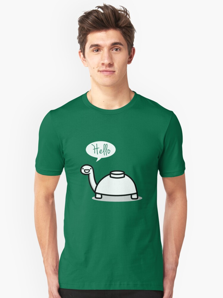 Mine turtle stops by to say hello Unisex T-Shirt Front