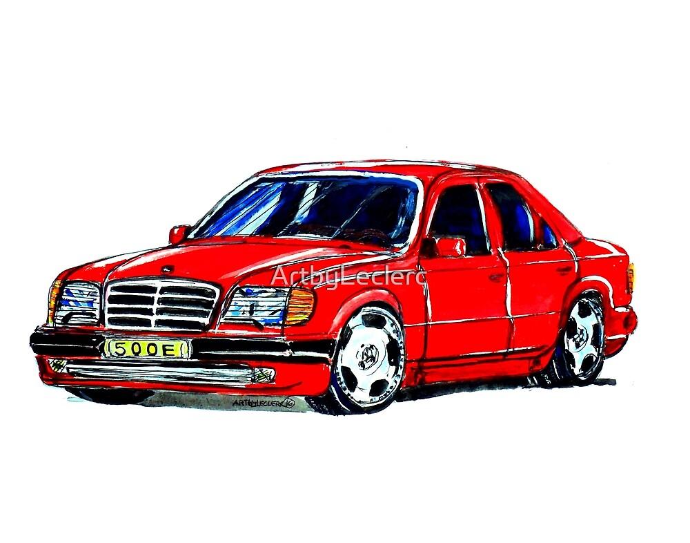 Mercedes W124 500E by ArtbyLeclerc