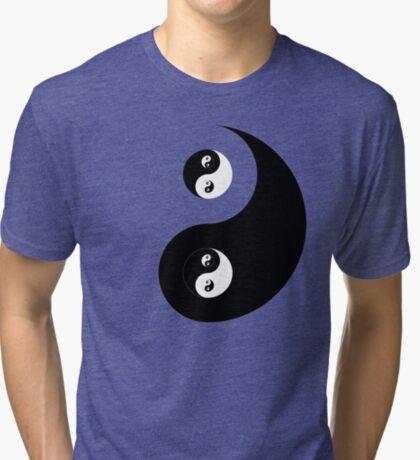 Ying Yang Sticker Tri-blend T-Shirt