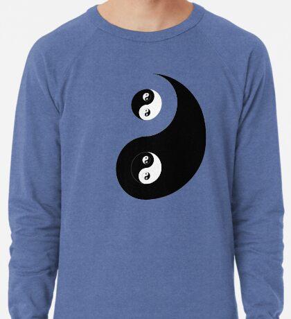 Ying Yang Sticker Lightweight Sweatshirt